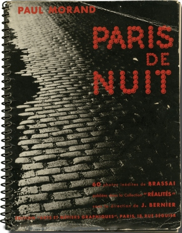 Original edition of Paris de Nuit, photos by Brassaï