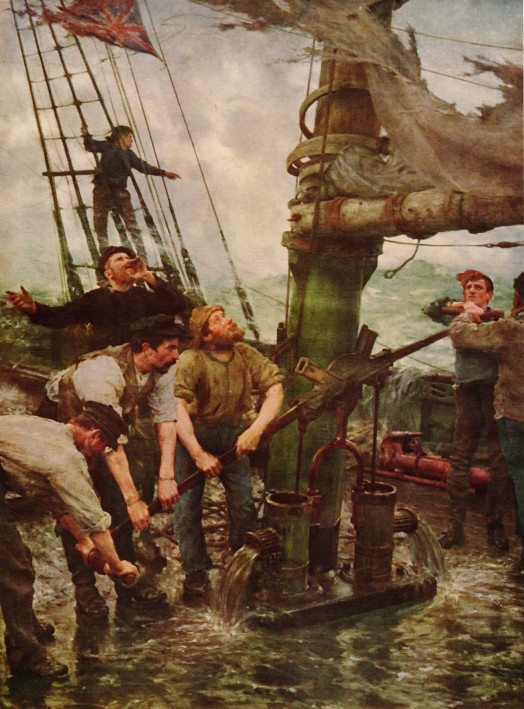 All Hands to the Pumps by Henry Scott Tuke (1889) © Tate