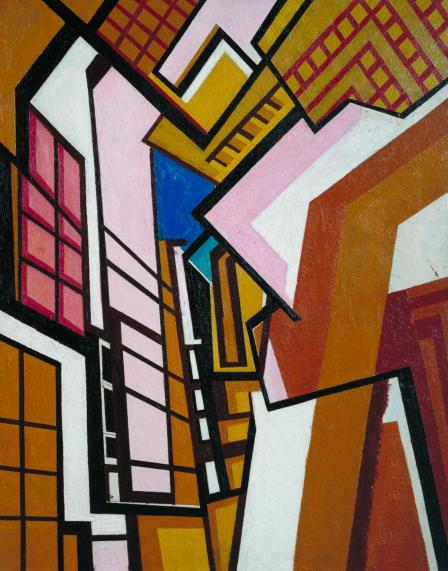 Workshop by Wyndham Lewis (1915)