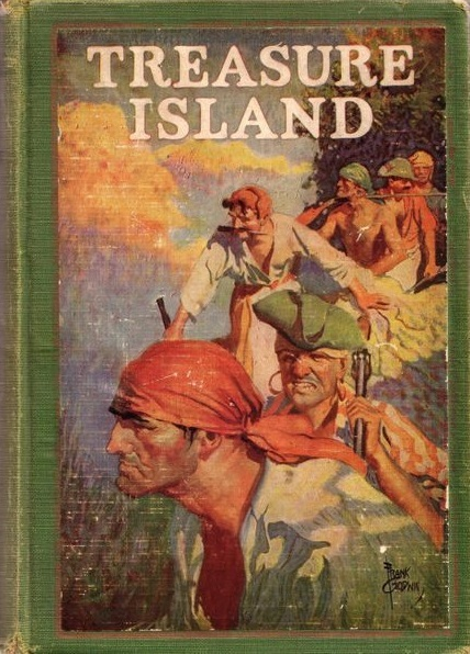 Jacket illustration of 'Treasure Island'
