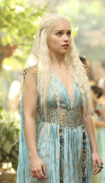 Emilia Clarke as Daenerys Targaryen in HBO's 'A Clash of Kings', broadcast on Sky Atlantic © HBO