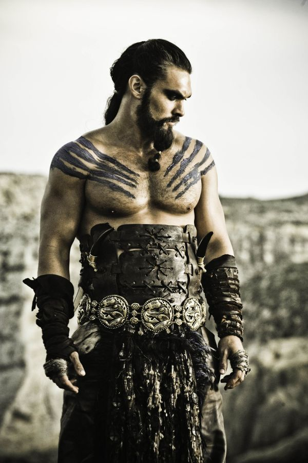 Jason Momoa as Khal Drogo in HBO's 'Game of Thrones' broadcast on Sky Atlantic © HBO