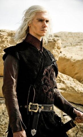 Photo of Harry Lloyd as Viserys Targaryen in HBO's 'Game of Thrones' broadcast on Sky Atlantic © HBO