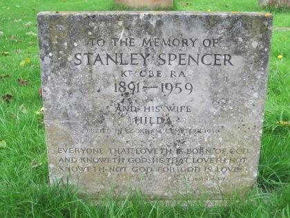 Stanley Spencer's gravestone, Cookham churchyard