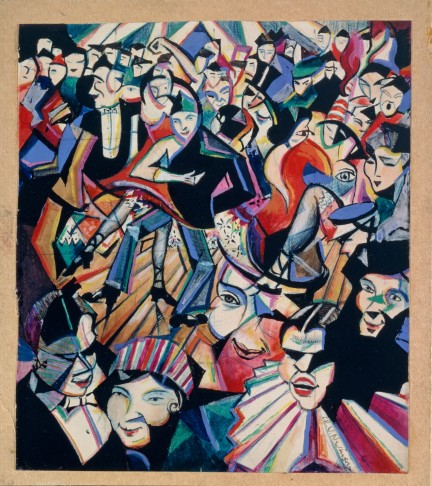 C.R.W. Nevinson, Dance Hall Scene, c.1913-14, chalk, gouache and watercolour, 22.2 x 19.7 cm, ©Tate, London 2012