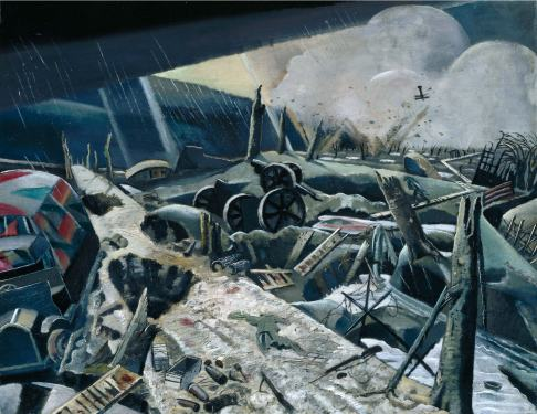 Paul Nash, The Void, 1918, Oil on canvas, 75 x 95.7 cm, Photo © MBAC