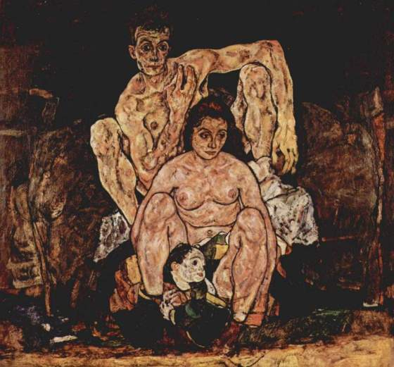 The Family by Egon Schiele (1918)