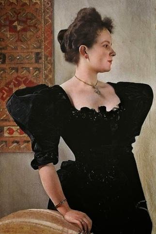 Lady in Black by Gustav Klimt (1894)