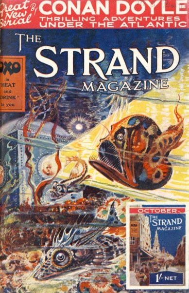 Front cover of the 1927 edition of the Strand magazine, containing the first chapter of the Maracot Deep