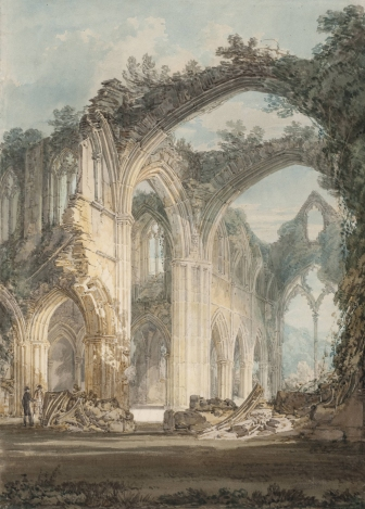Tintern Abbey: The Crossing and Chancel, Looking towards the East Window by JMW Turner (1794). Tate