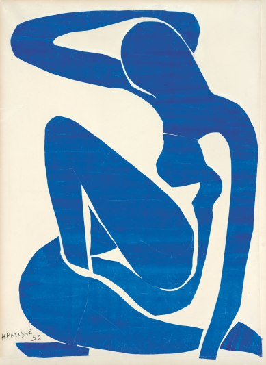Henri Matisse, Blue Nude (I) 1952 (Download high resolution image 1.99 MB) Gouache painted paper cut-outs on paper on canvas 106.30 x 78.00 cm Foundation Beyeler, Riehen/Basel Photo: Robert Bayer, Basel © Succession Henri Matisse/DACS 2013