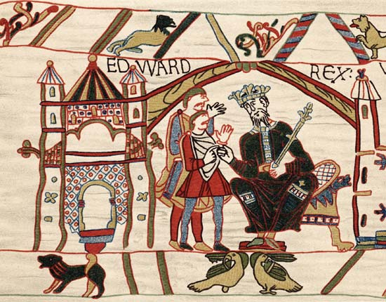 King Edward the Confessor promising what, exactly, and to whom?