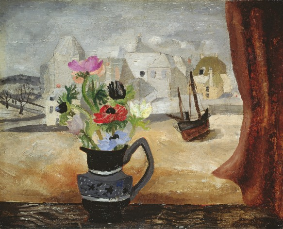 Christopher Wood, Anemones in a Cornish Window, 1930, Oil on canvas, 40.6 x 48.2 cm, © Leeds Museums and Galleries (Leeds Art Gallery) / The Bridgeman Art Library