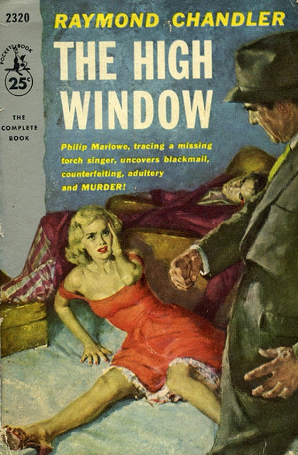 Pulpy cover of 'The High Window'