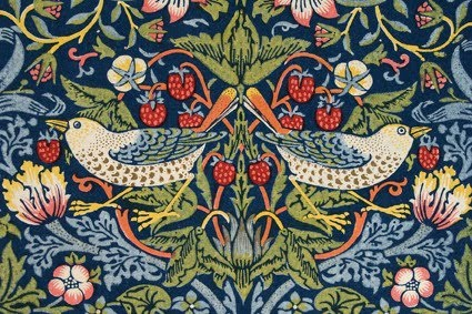 Strawberry thief, design for printed cotton by William Morris (1883)