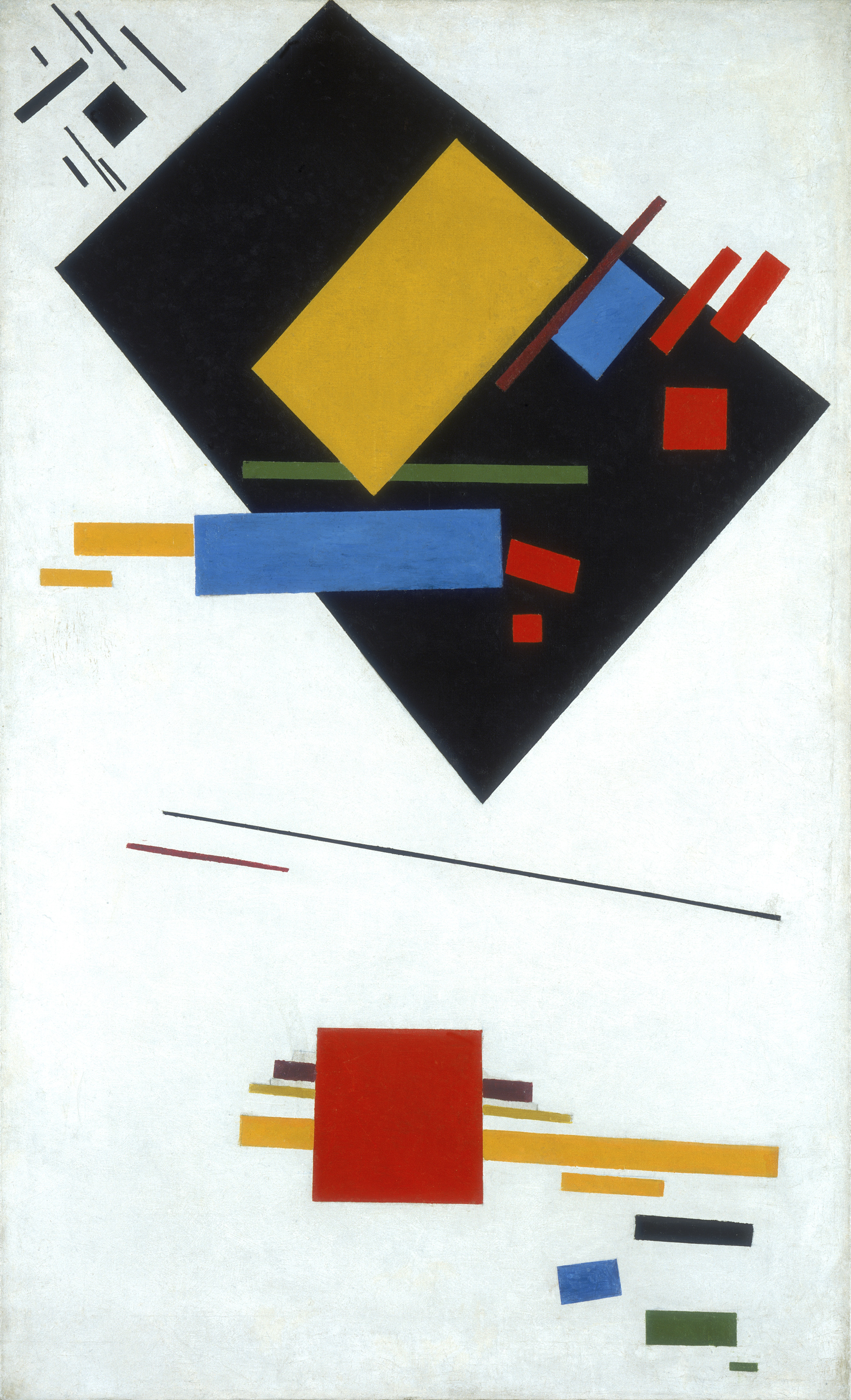 an analysis of the painting red square by kasimir malevich The imprecise outlines of the asymmetrical square generate a feeling of infinite space with his white on white series malevich pushed the limits of abstraction to suprematist composition: white on white emphasizes painting's material aspects, and its simplicity suggests a.