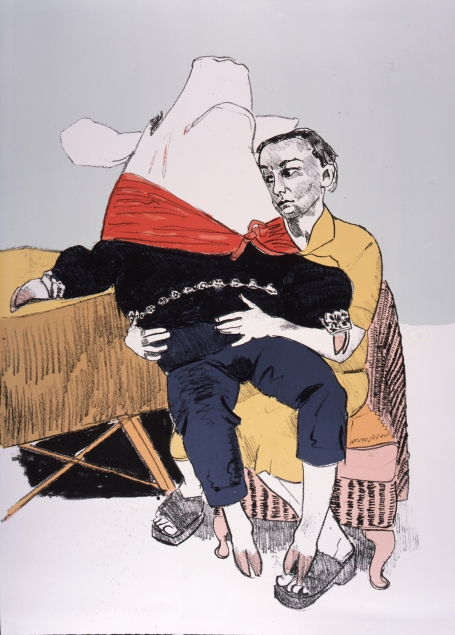 Paula Rego, Prince Pig's Courtship  Lithograph, 95 x 70 x 4 cm © Paula Rego. Courtesy Marlborough Fine Art, London