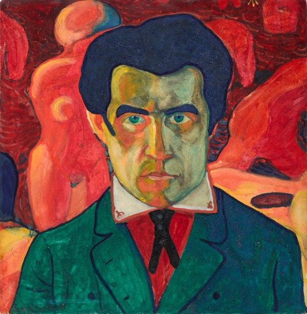 Kazimir Malevich, Self Portrait 1908-1910 State Tretyakov Gallery, Moscow, Russia