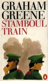Cover of the 1980s Penguin edition of Stamboul Train, artwork by Paul Hogarth