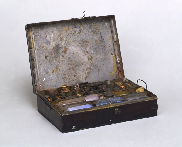 Joseph Mallord William Turner (1775 – 1851) Turner's paintbox Metal paint-box Tate Archive © Tate, London