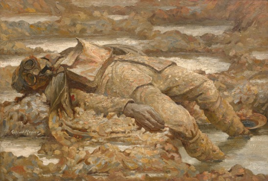 Gassed. 'In Arduis Fidelis' (1919) by Gilbert Rogers © IWM