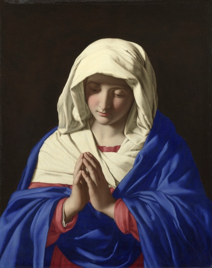 The Virgin in Prayer (1640-50) by Sassoferrato © The National Gallery, London