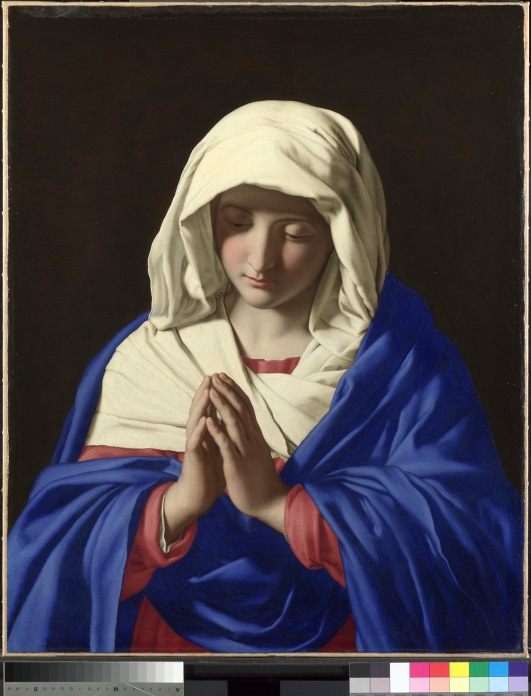 Sassoferrato The Virgin in Prayer 1640-50 Oil on canvas 73 x 57.7 cm Credit Line: The National Gallery, London