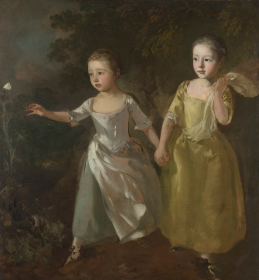 The Painter's Daughters chasing a Butterfly (about 1756) by Thomas Gainsborough © The National Gallery, London
