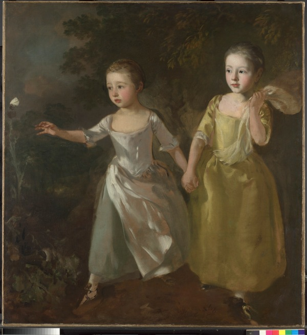 Thomas Gainsborough (1727 – 1788) The Painter's Daughters chasing a Butterfly, probably about 1756 Oil on canvas The National Gallery, London. Henry Vaughan Bequest, 1900 © The National Gallery, London