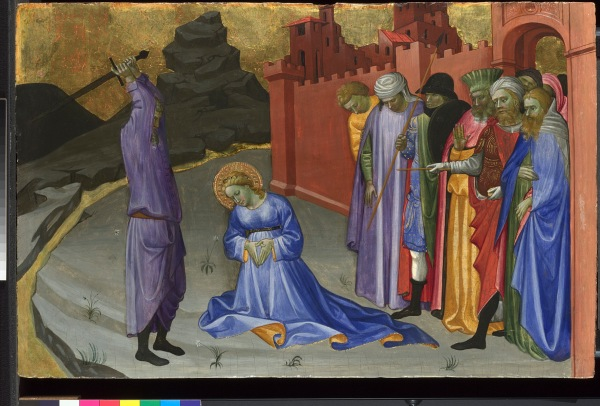 Gherardo di Jacopo Starnina (Master of the Bambino Vispo) The Beheading of Saint Margaret (?) probably about 1409 Egg tempera on poplar 42.3 x 65.2 cm Credit Line: The National Gallery, London