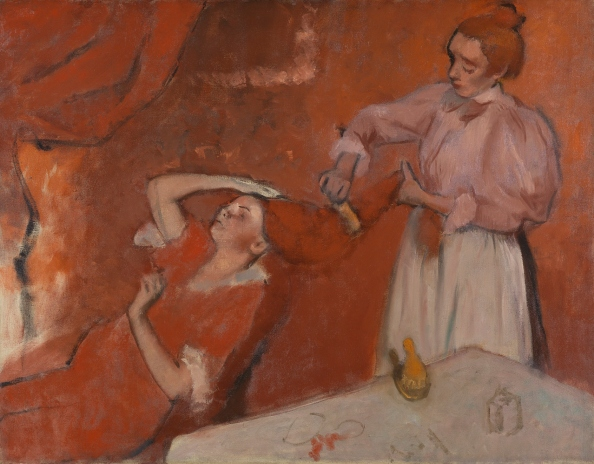 Combing the Hair (1896) by Hilaire Germain Edgar Degas © The National Gallery, London