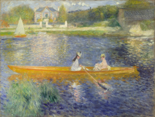 The Skiff by Pierre-Auguste Renoir (1875) © The National Gallery, London