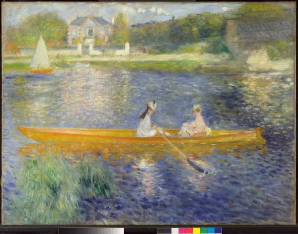 NG6478 Pierre-Auguste Renoir (1841 – 1919) The Skiff (La Yole), 1875 Oil on canvas The National Gallery, London. Bought, 1982 © The National Gallery, London