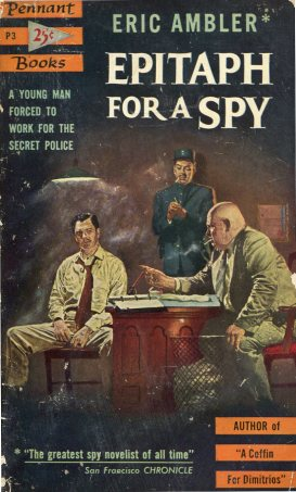Pulp cover of Epitaph for A Spy