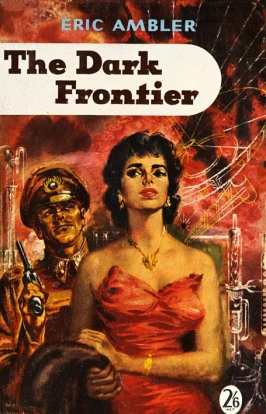 Paperback edition of Hodder & Stoughton 1959 edition of The Dark Frontier, illustration by Oliver Brabbins