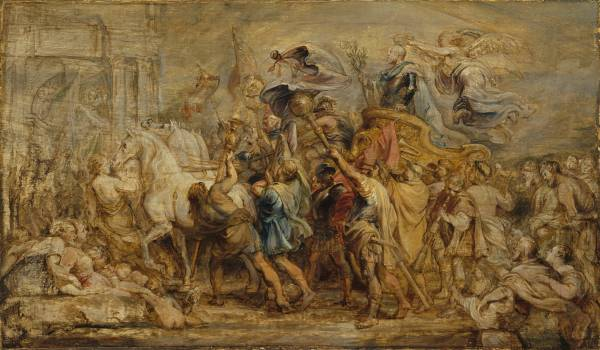 Peter Paul Rubens  The Triumph of Henri IV, 1630  Oil on panel, 49.5 x 83.5 cm  Lent by The Metropolitan Museum of Art, Rogers Fund, 1942 (42.187) Photo c. 2013. Image copyright The Metropolitan Museum of Art / Art Resource / Scala, Florence