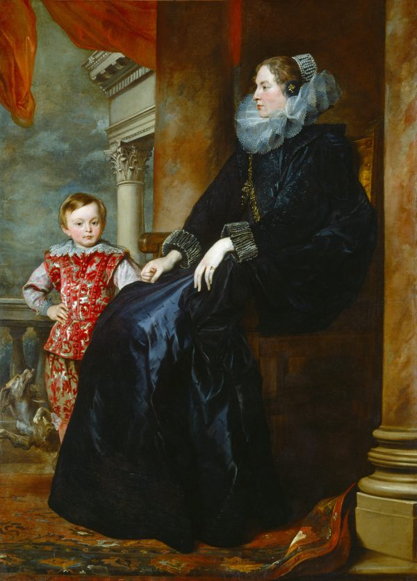 Sir Anthony Van Dyck  A Genoese Noblewoman and Her Son, c. 1626  Oil on canvas, 191.5 x 139.5 cm  National Gallery of Art, Washington, Widener Collection, 1942.9.91  Photo Courtesy National Gallery of Art, Washington