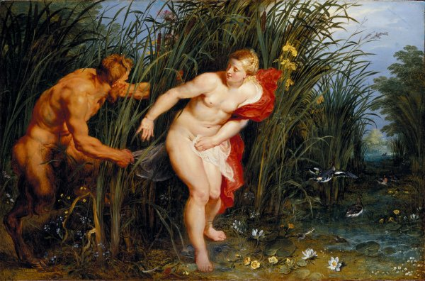 Peter Paul Rubens  Pan and Syrinx, 1617  Oil on panel, 40 x 61 cm  Museumslandschaft Hessen Kassel, Gemaeldegalerie Alte Meister, Kassel  Photo: Museumslandschaft Hessen Kassel, Gemaeldegalerie Alte Meister/Ute Brunzel