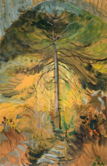 Emily Carr, Happiness, 1939, Oil on paper (University of Victoria Art Collection, Gift of Nikolai and Myfanwy Pavelic)