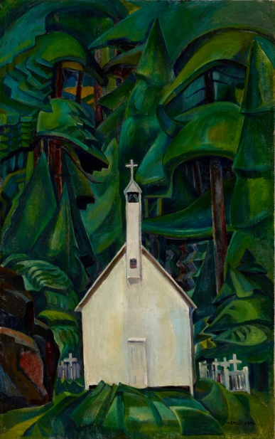 Emily Carr, Indian Church, 1929, oil on canvas. ART GALLERY OF ONTARIO, Bequest of Charles S. Band, Toronto,