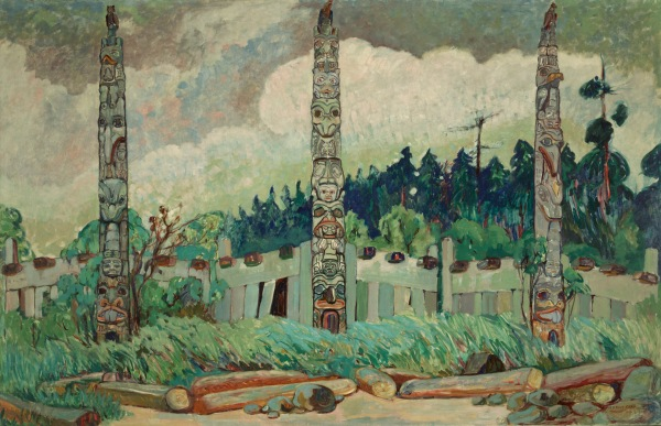 Emily Carr, Tanoo, Queen Charlotte Island, BC, 1913, Image PDP02145 courtesy of Royal BC Museum, BC Archives, Canada.