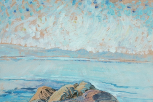 Emily Carr, Untitled (Seascape) 1935, Oil on paper mounted on board (The Art Gallery of Greater Victoria)
