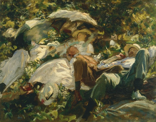 Group with Parasols by John Singer Sargent, c.1904–5 ©Private collection