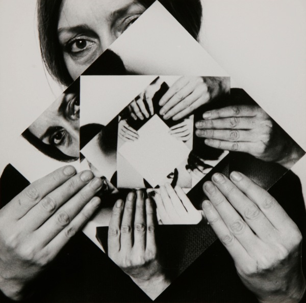 Dóra Maurer Seven Rotations 1–6 1979 Six gelatin silver prints 20 × 20 cm each Collection of Zsolt Somlói and Katalin Spengler © Dóra Maurer
