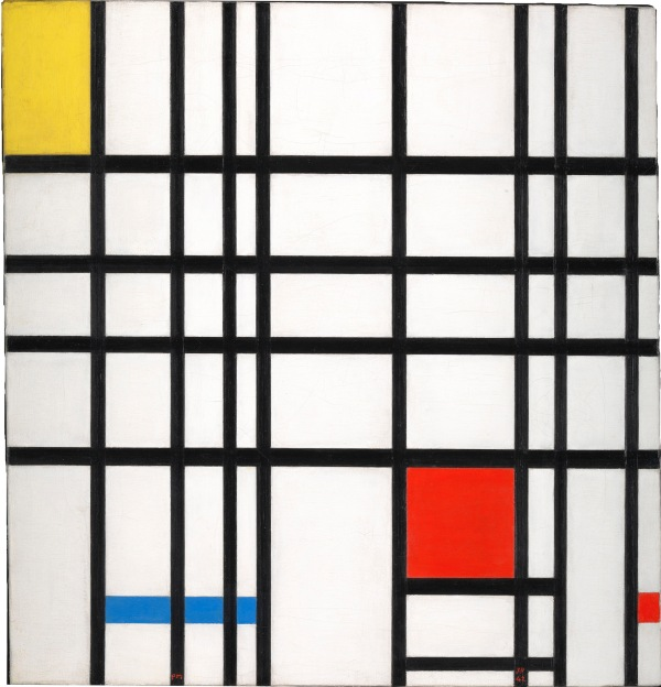 Piet Mondrian Composition with Yellow, Blue and Red 1937–42 Oil paint on canvas 72.7 × 69.2 cm © DACS, London/VAGA, New York 2014 Courtesy Tate Collection: Purchased 1964