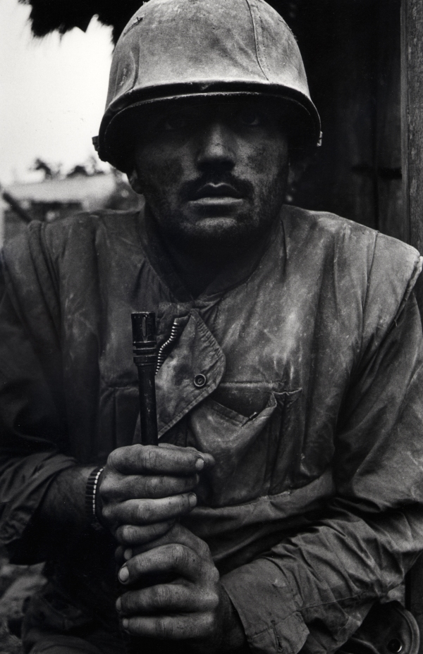 Don McCullin, Shell Shocked US Marine, Vietnam, Hue 1968 © Don McCullin