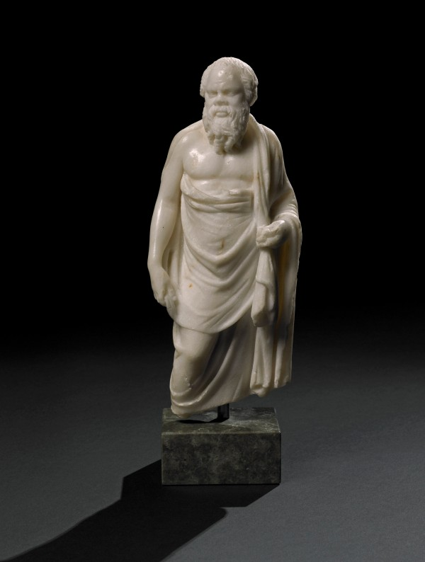 Marble statuette of Socrates. A Hellenistic original of the 2nd century BC, or a Roman copy, Alexandria, Egypt. © The Trustees of the British Museum