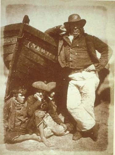 Newhaven fishermand and boys by David Octavius Hill