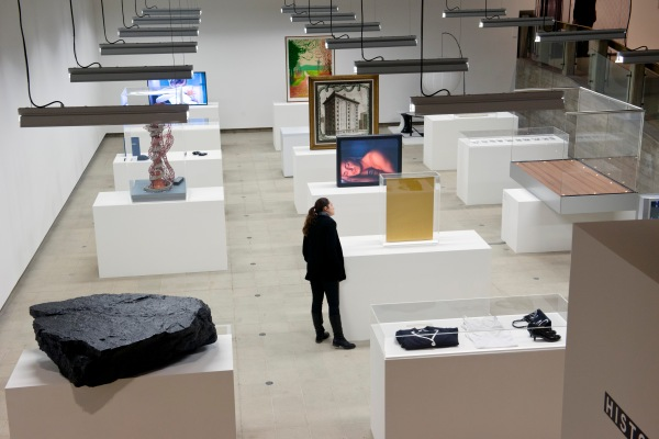 Installation view of Simon Fujiwara's curated section at Hayward Gallery, History Is Now: 7 Artists Take On Britain. Photo Linda Nylind