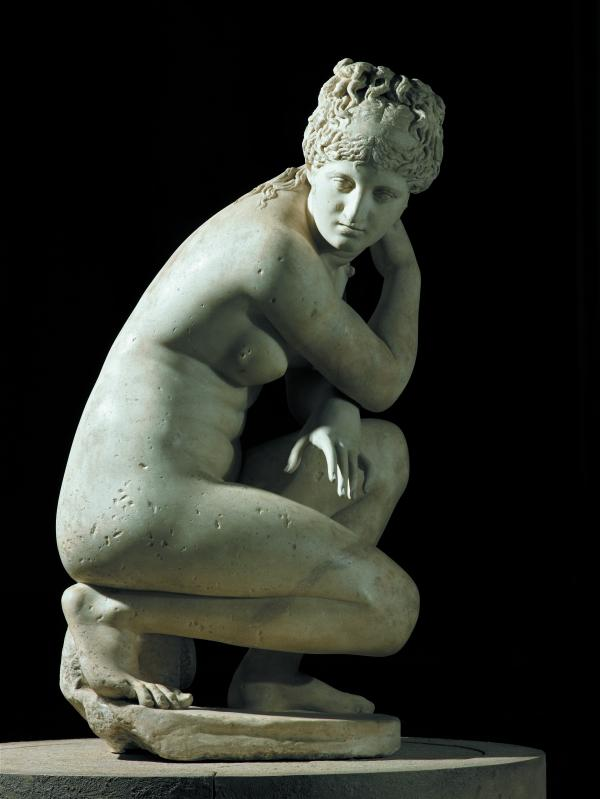 Marble statue of a naked Aphrodite crouching at her bath, also known as Lely's Venus. Roman copy of a Greek original, 2nd century AD. Royal Collection Trust / © Her Majesty Queen Elizabeth II 2015